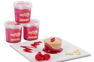 ROAR high protein white chocolate and raspberry blondies