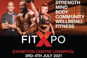 Advert for FitXPo Liverpool 2021 depicts athletes